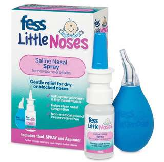 💦BB仔有鼻涕👃,鼻水👃⁉️生理鹽水幫到大家💦 《澳洲 🇦🇺Fess Little Noses 寶寶鼻通器和噴劑套裝》