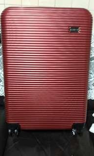 24吋#REBACCA ABS#時尚金漾紅行李箱