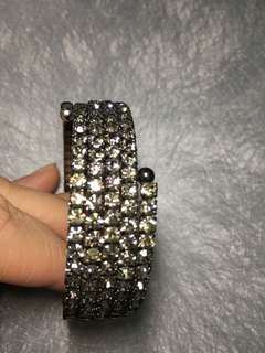 Bangle with crystals - all still intact
