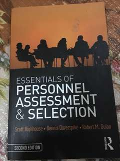 Essentials of personnel assessment & selection second edition