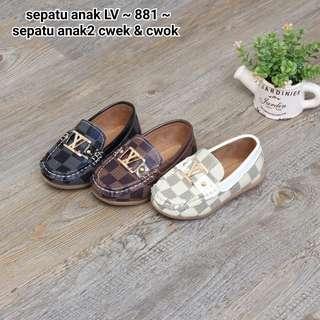 Sepatu anak LV size kecil  Anak2 cwek & cwok