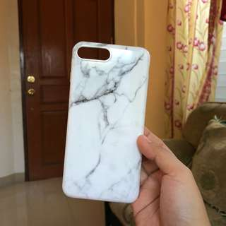 Iphone 7/8 plus cases: white marble