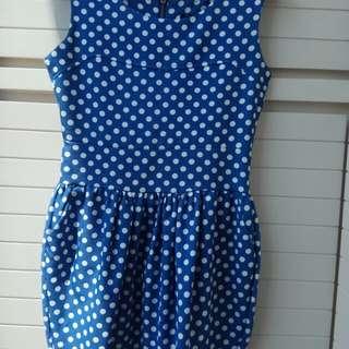 Dress biru size M