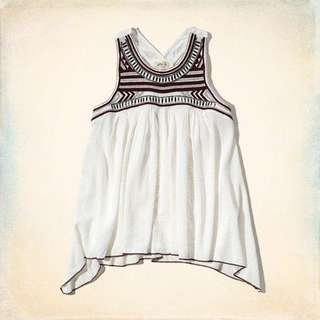 Hollister Embroidered Shine Tank