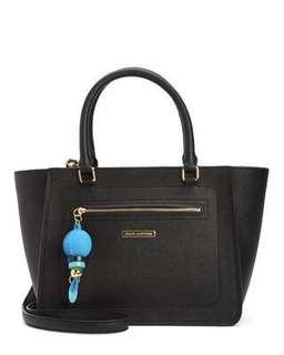 (內有實物圖)平讓全新 juicy couture LARCHMONT LEATHER SATCHEL black 黑色手袋