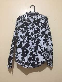 Zalora Brand Floral Top Long Sleeves