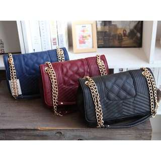 Mango Chain Quilted Bag