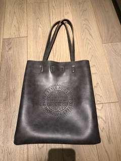Leather beach Shopping bag