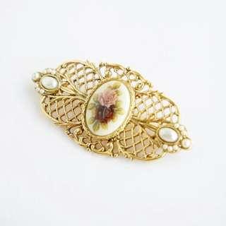1928 Jewerly 花朵圖案 Vintage 胸針