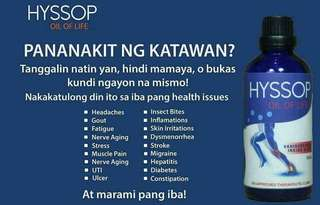 HYSSOP oil of life