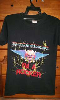 Vintage 80s 1988 Judas Priest I'm a rocker t-shirt