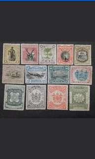 North Borneo 1893 1894 Postage & Revenue 1c To $2 Complete Set - 13v Mint Malaya Stamps