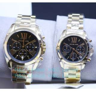 MK Couples Watch - Black_Gold Combination
