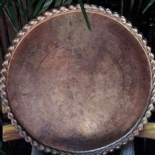 Dulang tembaga saiz besar antik