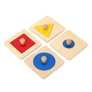 Montessori Single shape puzzles