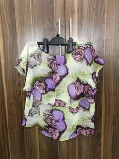 Floral See Through Top