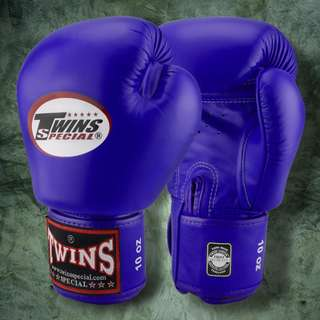 Twins Special Muay Thai Gloves - Blue - 12 oz