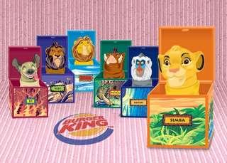 🚚 絕版 老玩具 漢堡王 迪士尼 獅子王 指偶 土狼 非辛巴刀疤公仔