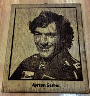 Vintage antique (Ayrton Senna) Wood carving pictures (L28XB33)cm