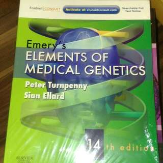 BNWT Emery Elements Of Medical Genetics