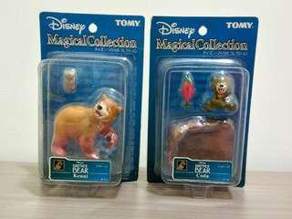 🚚 絕版 老玩具 tomy 迪士尼 熊的傳說 吊卡 公仔