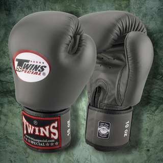 Twins Special Muay Thai Gloves - Grey - 12 oz