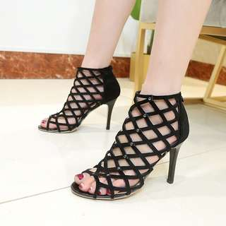 Women sexy party Lace Up Heels