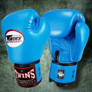 Twins Special Muay Thai Gloves - Light Blue - 12 oz