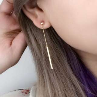 [INSTOCKS] Minimalistic Dangle Bar Drop Earrings