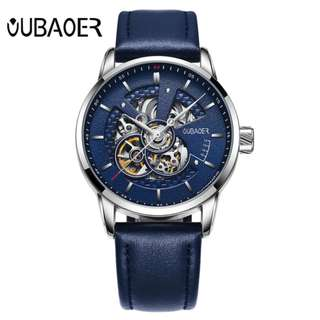automatic mechanical watch men OUBAOER brand sports men watches fashion skeleton wristwatches male relogio masculino erkek
