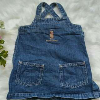 <Pre-love> Vintage Polo Bear. Baby Overall. ( Free Postage)