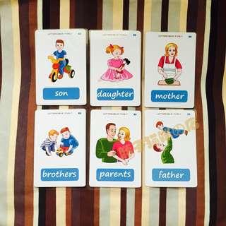 🎀 🌈FAMILY MEMBERS🌈FLASH CARDS(18PCS)