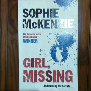 girl missing - sophie Mckenzie