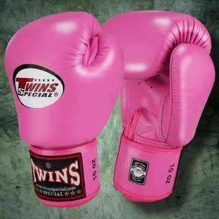 Twins Special Muay Thai Gloves - Pink - 12 oz