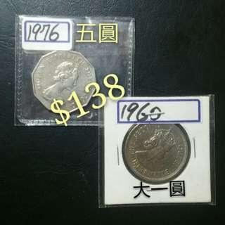 市價$……HK硬幣系列