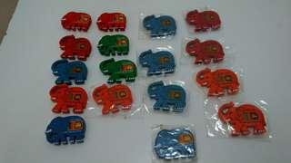 Sri Lanka Elephant Fridge Magnets