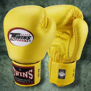 Twins Special Muay Thai Gloves - Yellow - 12 oz