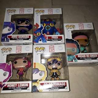 Big hero 6 set of 5
