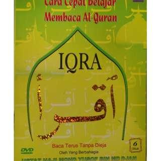 Cara Cepat Belajar Membaca Al Quran Iqra 6DVD