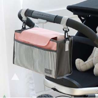 [Free Reg Mail] Baby Stroller bag Pouch Organizer for Diapers Bottles Hook