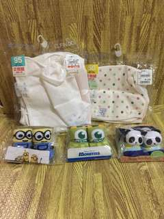baby socks and washable diaper