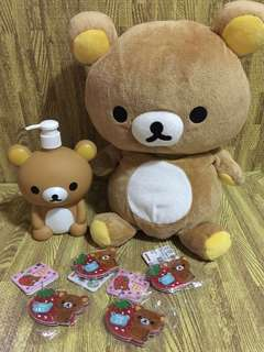 Rilakkuma stuffed toy bundle