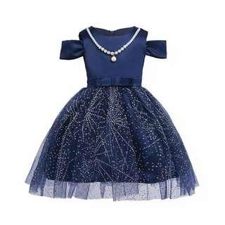 Sequin Princess Blue Dress