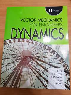 Vector Mechanics for engineers (dynamics) 11th edition