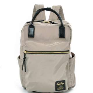 LH-C1793 [Legato Largo] Beige High density Nylon tone 10Pocket Rucksack   100% GENUINE !