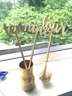 Wooden Table Numbers ( One - Ten only )