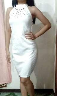 Brandnew Neoprene Eyelet Halter Bodycon/Bodyfit Dress