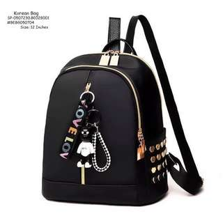 KOREAN BAG Double Compartment With Keychain With HeadSet Hole SIZE : 12 inch ONE COLOR ONLY
