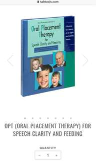 Talktools' Oral Placement Therapy for Speech Clarity and Feeding NEE