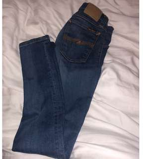 Nudie jeans size 25 BNWT blue denim
